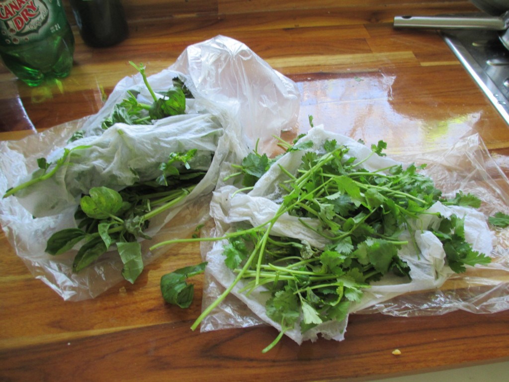 Fresh Herbs for Tamales